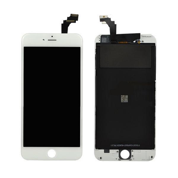 iPhone 6S Plus LCD-Skjerm - Hvit Inkl. skjerm-glass, berøringsskjerm.