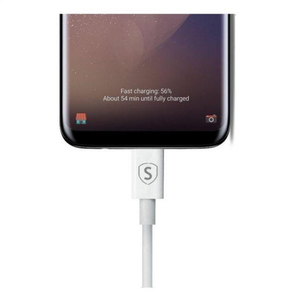 SiGN USB-C-kabel for Hurtigladning 1 meter (Hvit)