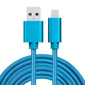SiGN USB kabel Lightning kontakt til iPhone & iPad, 3A, 3m - Blå:Nylon